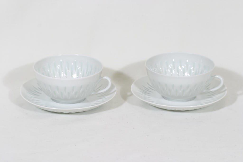 Arabia FK/D teekupit, 25 cl, 2 kpl, suunnittelija Friedl Holzer-Kjellberg, 25 cl, riisiposliini, massasigneerattu