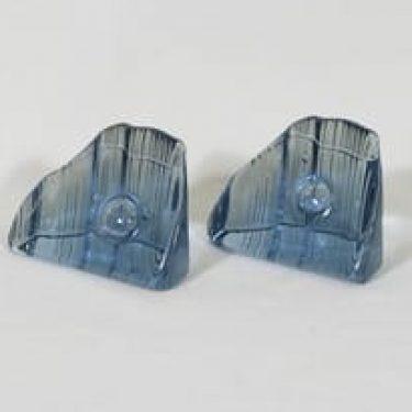 Iittala Kuutamo tunturilla taidelasi, sininen, 2 kpl, suunnittelija Valto Kokko,