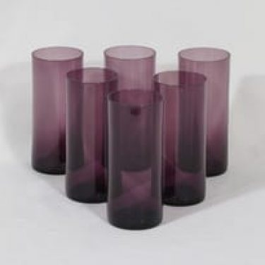 Iittala i-114 lasit, i-väri, 6 kpl, suunnittelija Timo Sarpaneva,