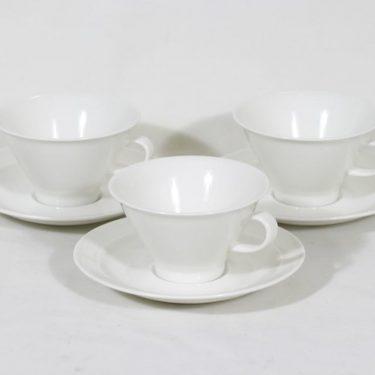Arabia Harlekin teekupit, valkoinen, 3 kpl, suunnittelija ,