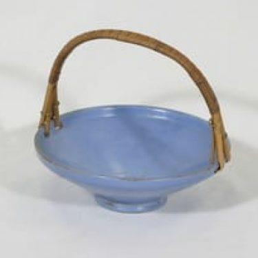 Grankullan saviteollisuus keramiikkakori, sininen, suunnittelija ,