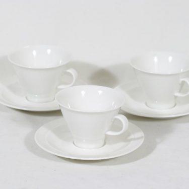 Arabia Harlekin kahvikupit, valkoinen, 3 kpl, suunnittelija ,