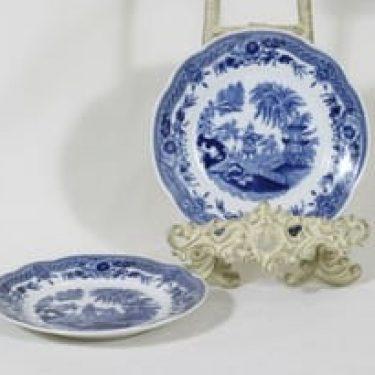 Arabia Singapore lautaset, sininen, 2 kpl, suunnittelija , pieni, kuparipainokoriste
