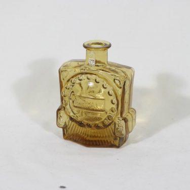 Riihimäen lasi koristepullo, amber, suunnittelija Erkkitapio Siiroinen, pieni