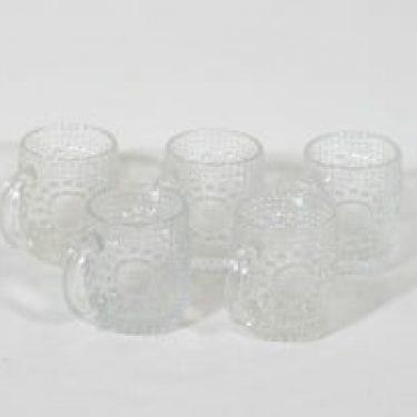 Riihimäen lasi Grapponia kupit, 10 cl, 5 kpl, suunnittelija Nanny Still, 10 cl