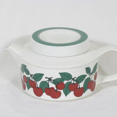 Arabia Kirsikka teekannu, 1 l, suunnittelija Inkeri Seppälä, 1 l, serikuva