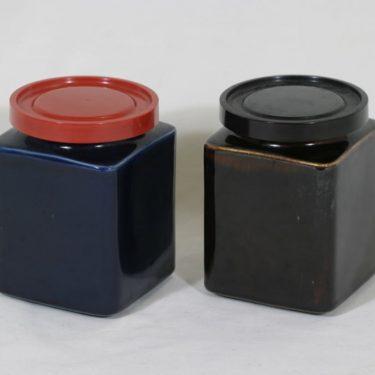 Arabia FF2 tölkit, ruskea|sininen, 2 kpl, suunnittelija , koristelematon