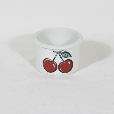 Arabia Tutti frutti purnukka, kirsikka, suunnittelija Ulla Procope, kirsikka, serikuva