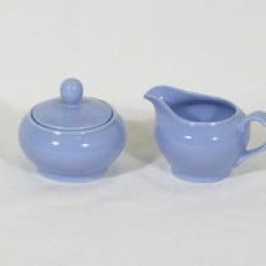 Arabia OO sokerikko ja kermakko, sininen, suunnittelija , koristelematon