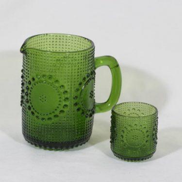 Riihimäen lasi Grapponia kaadin ja lasit, 1 l, suunnittelija Nanny Still, 1 l