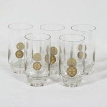 Riihimäen lasi Paraati lasit, 30 cl, 5 kpl, suunnittelija Nanny Still, 30 cl, kolikkoaihe