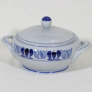 Arabia Blue Laurel liemimalja, käsinmaalattu, suunnittelija Olga Osol, käsinmaalattu, pieni