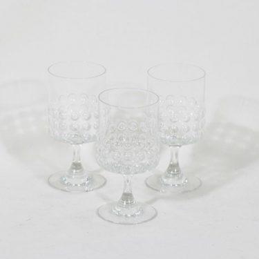 Riihimäen lasi Grappo viinilasit, kirkas, 3 kpl, suunnittelija Nanny Still,