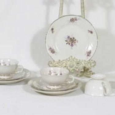Arabia Raili kahvikupit ja lautaset, 3 kpl, suunnittelija Svea Granlund, siirtokuva