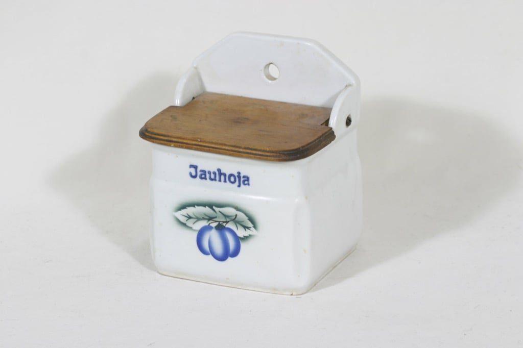Arabia Luumu jauhoastia, suunnittelija Thure Öberg, puhalluskoriste