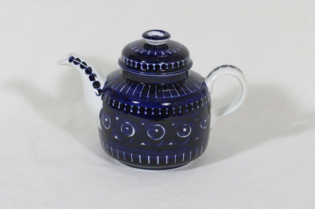 Arabia ND 2 teekaadin, käsinmaalattu, suunnittelija Ulla Procope, käsinmaalattu, signeerattu