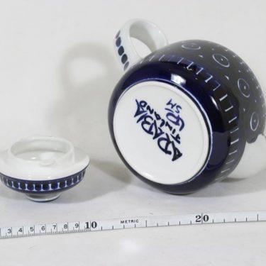 Arabia ND 2 teekaadin, käsinmaalattu, suunnittelija Ulla Procope, käsinmaalattu, signeerattu kuva 3