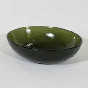 Nuutajärvi kulho, vihreä, suunnittelija Kaj Franck,