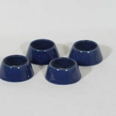 Arabia Kilta munarenkaat, sininen, 4 kpl, suunnittelija Kaj Franck,