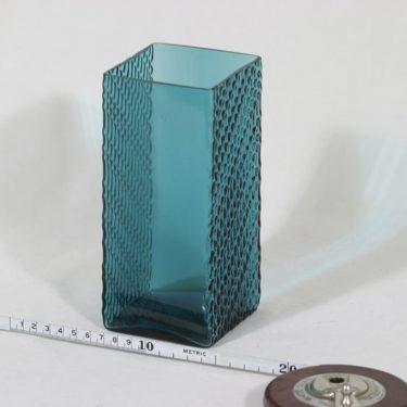 Riihimäen lasi Flindari maljakko, turkoosi, suunnittelija Nanny Still,  kuva 2
