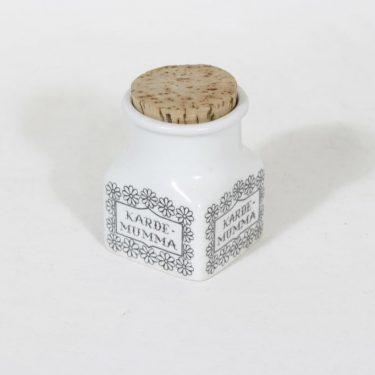 Arabia EK maustepurkki, kardemumma, suunnittelija , kardemumma, serikuva, tekstikuvio