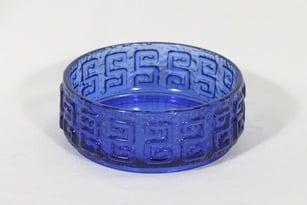 Riihimäen lasi Taalari bowl, cobalt blue, designer Tamara Aladin,