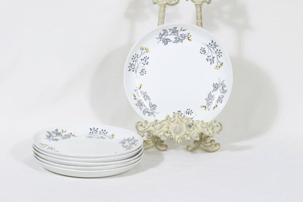 Arabia Hilkka lautaset, matala, 6 kpl, suunnittelija Esteri Tomula, matala, pieni, serikuva