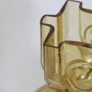Riihimäen lasi Aitanlukko maljakko, amber, suunnittelija Helena Tynell,  kuva 2