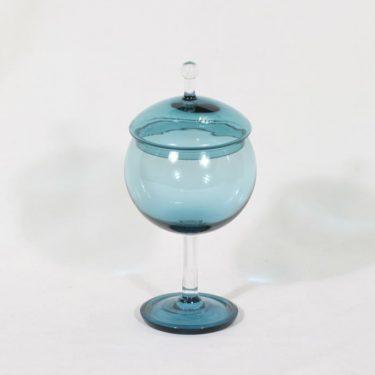 Riihimäen lasi Harlekiini sokerikko, amber, suunnittelija Nanny Still,