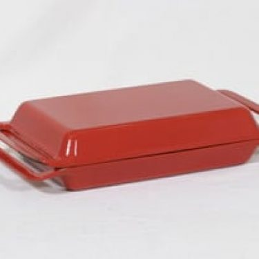 Rosenlew 4518 kannellinen vuoka, punainen, suunnittelija Timo Sarpaneva,