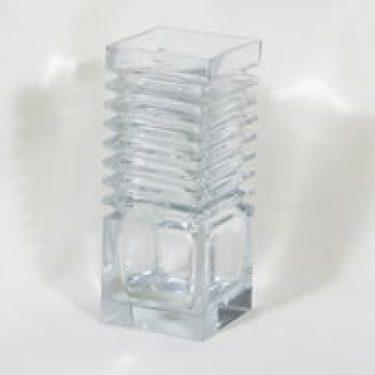 Riihimäen lasi Harmonikka maljakko, kirkas, suunnittelija Tamara Aladin, suuri