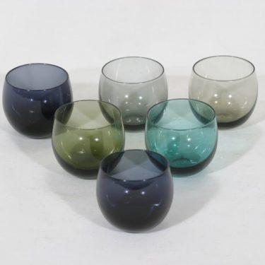 Nuutajärvi Marja lasit, 7 cl, 6 kpl, suunnittelija Saara Hopea, 7 cl, pieni