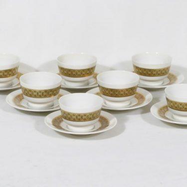 Arabia BL mocha cups, 7 pcs, Kaarina Aho