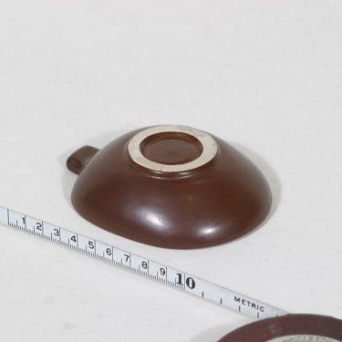 Arabia Tarina tuhka-astia, ruskea, suunnittelija Arabian taideteollisuusosasto, pieni, raaputuskoriste kuva 2