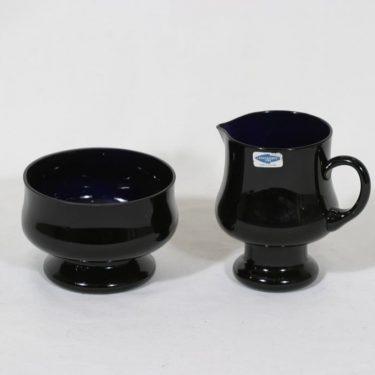 Riihimäen lasi Sesi sugar bowl and creamer, lilac, Erkkitapio Siiroinen
