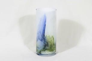 Riihimäen lasi Koralli maljakko, monivärinen, suunnittelija Tamara Aladin, suuri