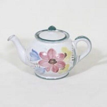 Arabia ARA teekannu, käsinmaalattu, suunnittelija , käsinmaalattu, pieni, signeerattu