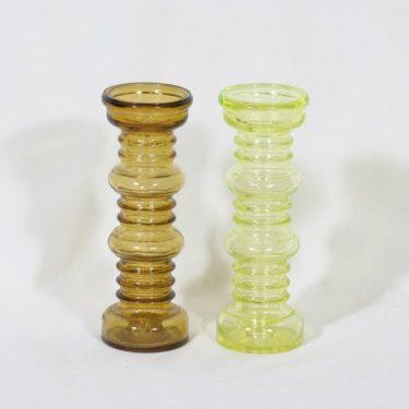 Riihimäen lasi Carmen kääntömaljakot, eri värejä, 2 kpl, suunnittelija Tamara Aladin,