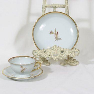 Arabia OL kahvikuppi, käsinmaalattu, suunnittelija Greta-Lisa Jäderholm-Snellman, käsinmaalattu, signeerattu, art deco