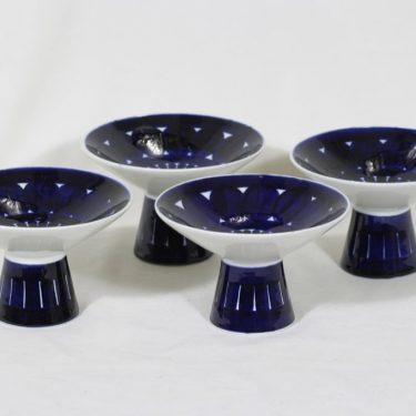 Arabia Valencia kynttilänjalat, käsinmaalattu, 4 kpl, suunnittelija Ulla Procope, signeerattu