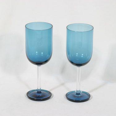 Riihimäen lasi Harlekiini mehulasit, sininen, 2 kpl, suunnittelija Nanny Still,