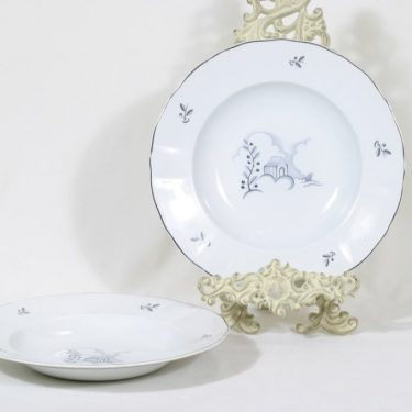Arabia Mökki lautaset, syvä, 2 kpl, suunnittelija , syvä