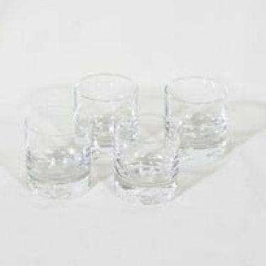Iittala Jäänsärkijä lasit, kirkas, 4 kpl, suunnittelija Tapio Wirkkala, pieni