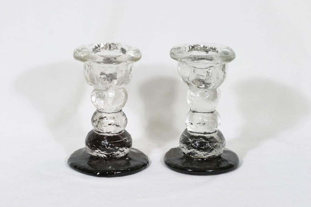 Humppila Kivi-Set kynttilänjalat, signeerattu, 2 kpl, suunnittelija Pertti Santalahti, signeerattu, massiivinen