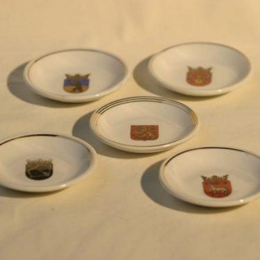 Arabia Vaakuna koristelautaset, 5 kpl, suunnittelija , pieni