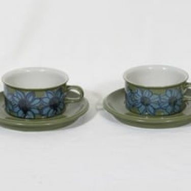 Arabia S teekupit, 27 cl, 2 kpl, suunnittelija Hilkka-Liisa Ahola, 27 cl, käsinmaalattu, signeerattu