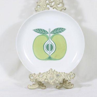 Arabia Pomona lautanen, omena, suunnittelija Raija Uosikkinen, omena, serikuva, retro