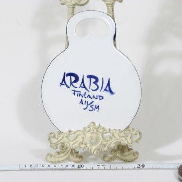 Arabia Paju talouslevy, käsinmaalattu, suunnittelija Anja Jaatinen-Winqvist, käsinmaalattu, signeerattu, retro kuva 2