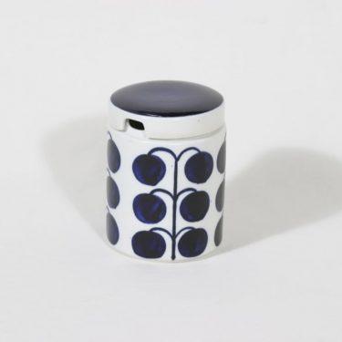 Arabia Sininen sarja hillotölkki, 44.5 cl, suunnittelija Esteri Tomula, 44.5 cl, käsinmaalattu, signeerattu, retro
