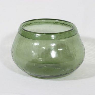 Riihimäen lasi Neptuna boolimalja, vihreä, suunnittelija Nanny Still,